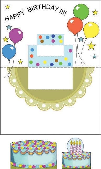 Открытки с днем рождения из бумаги шаблоны, осенняя открытки открытка