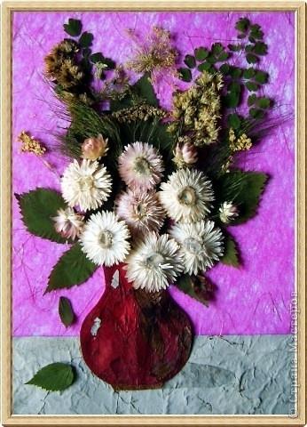 картинки из сухих цветов и листьев