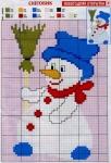 Скачать бесплатную схему вышивки крестом снеговика.
